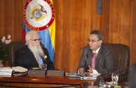 Visita al Presidente de la Corte Suprema en Bogotá, Colombia