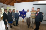 Unveiling of a Holocaust survivor's plaque and Argentina's military dictatorship at the former headquarters of ESMA