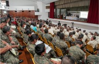 "Forum ""Educating to Remember"" at the Army's Politechnical School in Guatemala"