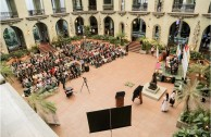 """Forum """"Educating to Remember"""" Mayan Autorities at the Cultural Palace"""