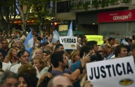 March requesting justice for the prosecutor Nisman Argentina
