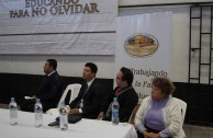 """Three day conference in Basic Education, Media and Diversified Schools, which received the GEAP and the Forum: """"Educating to Remember"""" in Guatemala"""