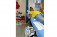 "Blood Bank thanks the work of Dr. William Soto in Peru, Blood Drive Marathon ""LIfe is in the Blood"""