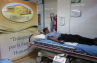 """Blood Bank thanks the work of Dr. William Soto in Peru, Blood Drive Marathon """"LIfe is in the Blood"""""""