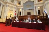 """En una sesión solemne en el Congreso de la República del Perú, la EMAP presenta el proyecto """"Huellas para no olvidar""""."""