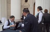 La Embajada Mundial de Activistas por la Paz se prepara para abrir la Sesión Educativa de la CUMIPAZ 2015 en el ex Congreso de la República de Chile.