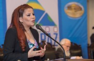 Gabriela Lara, General Director of the GEAP, opened the Educational Session of the second day of the Peace Integration Summit, CUMIPAZ, held at the former Congress of the Republic in Santiago, Chile.