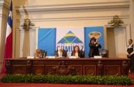 Luego del desarrollo de las mesas de trabajo de la Sesión Educativa de la CUMIPAZ 2015 serán presentadas las conclusiones de cada una de ellas en una Sesión Plenaria en el ex Congreso de la República de Chile.