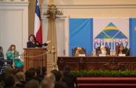 Las Conferencias magistrales de la Dra. Mirian Estrada, Profesora de Derecho Penal Internacional de la Universidad para la Paz, de la Organización de la Naciones Unidas y el Dr. William Soto, Presidente Ejecutivo de la Embajada Mundial de Activistas por la Paz (EMAP) sentaron las bases para el desarrollo de las mesas de trabajo de la Sesión Educativa de la CUMIPAZ 2015.