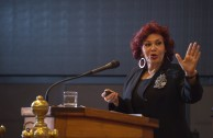 """Dr. Mirian Estrada Castillo, Professor  of International Criminal Law of the University  for Peace, of the United Nations, gave her lecture, """"Superior Education in a World of Flames."""", in the Educational Session of CUMIPAZ (Chile 2015)."""