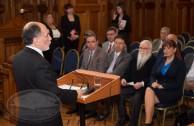 Autoridades judiciales, políticas y parlamentarias que participan en la Cumipaz, realizaron una visita oficial a la Corte Suprema de Justicia de Chile, como parte de los actos previos a la realización de la Cumbre Mundial de Integración por la Paz
