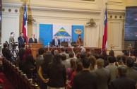 Opening ceremony of the Peace Integration Summit CUMIPAZ, in the Former National Congress of Chile on November 3rd, 2015.