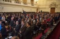Acto de Instalación de la Cumbre de Integración por la Paz CUMIPAZ, en el ex Congreso de Chile, 3 de noviembre de 2015.