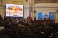 El acto de instalación de la CUMIPAZ fue presidido por el Presidente de la Corte Suprema de Justicia del Estado, Dr. Sergio Muñoz Gajardo y  el Dr. William Soto Santiago, Director Ejecutivo de la Embajada Mundial de Activistas por la Paz (EMAP) y Presidente de la CUMIPAZ 2015.