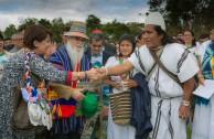 Jornada por la Paz de la Madre Tierra, Parque de los Novios - Colombia