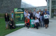 """Volunteers of the GEAP during the closing of the """"Tree Week"""" campaign, Argentina"""
