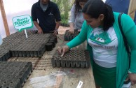 "Volunteers of the GEAP during the closing of the ""Tree Week"" campaign, Argentina"