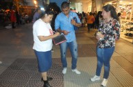 Awareness in the Chaco, Argentina during the 6th International Blood Drive Marathon