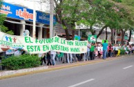 """The GEAP in Mexico celebrates the World Wildlife Day where thousands of activists and volunteers marched bearing the message: """"Let us save our Mother Earth's wildlife"""""""
