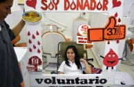 Volunteer activists and students held the third blood drive in Mérida, Yucatán, México