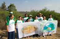 Reforestación Parque La Presa San José. San luis-México. 13 de mayo, 2016