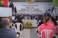 "Franz Tamayo University (UNIFRANZ) and the Cumbre University in Santa Cruz, Bolivia, opens their doors to the Project ""Educating to Remember"""