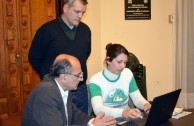 Legislator Dardo Iturria signs for the recognition of the Rights of Mother Earth
