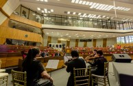 Moments before the 2º Panel of the Judicial Session