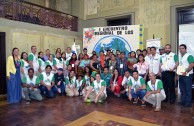 Representatives of indigenous people attend the 1st Regional Encounter of the Children of Mother Earth