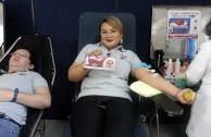 Jornada de donación de sangre promueve los principios y valores positivos del ser humano