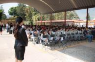 Estudiantes participan en charla sobre la Resolución 60/7  Recordación del Holocausto