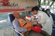 """Solidary act: Venezuelans present in the 8th International Marathon """"Life is in the Blood"""""""
