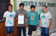 """Indigenous peoples present during the 4th Regional Encounter of the """"Children of Mother Earth"""""""