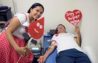 gota de sangre, donación