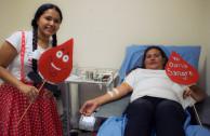 voluntario en donación de sangre