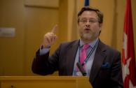 El profesor Santiago Castellá, académico de la Real Academia Europea de Doctores, habló sobre el papel del Consejo de Seguridad de la ONU y el derecho de veto.