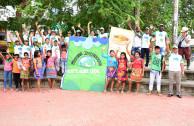 Colombia: En Apartadó la celebración del Día Mundial de la Madre Tierra se contó con 14 integrantes de la Comunidad indígena Embera Katio Eyabida.
