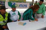 ntente Morales de la Policía Ambiental; Sr. Emilio Arias, coordinador Departamental de la EMAP