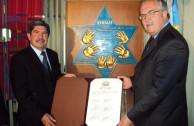 Carlos Ramiro Santiago Morales y Jurguen Mertens, Embajadores de Guatemala y Alemania en Colombia.