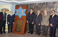 """Dr. Soto presents the educational proposal : """"The Holocaust as a Paradigm of Genocide"""", before the Legislative Assembly of Panama."""