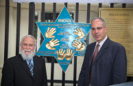 Embajador Mundial de la Embajada de Activistas por la Paz, Dr. William Soto y Sr. Yoed Magen, Embajador de Israel en Colombia