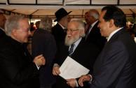 Nuncio Apostólico para Colombia, Mons. Aldo Cavalli, Dr. William Soto y Coord. para Colombia de la Embajada de Activistas por la Paz, Ing. Iván Sarmiento