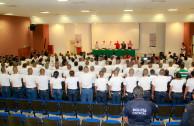 Cadetes y policía  sensibilizados  para alcanzar y mantener la paz