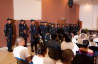 Con el toque marcial de la Banda de Guerra de la Secretaría de Seguridad Pública se dio inicio al Foro Judicial Nacional.