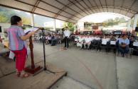 Presidenta Municipal María Lara, agradeció a la EMAP por emprender trabajo en equipo en  beneficio de la sociedad