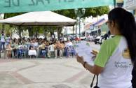Activista Olga Araguainamo, comparte proclama por los derechos de la madre tierra.