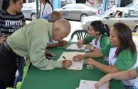 Ciudadanos de San Griego respaldan proclama, firma por la madre tierra.