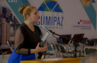 Director General of the GEAP speaking of the foundation and purpose of CUMIPAZ 2017.