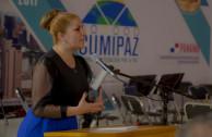 Directora General de la EMAP exponiendo los fundamentos y propósitos de la CUMIPAZ 2017.