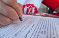 Completando formulario